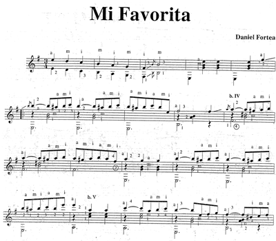Sheet Mi Favorita - Daniel Fortea