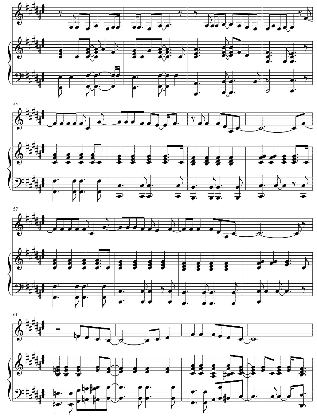 25 minutes4 piano sheet music