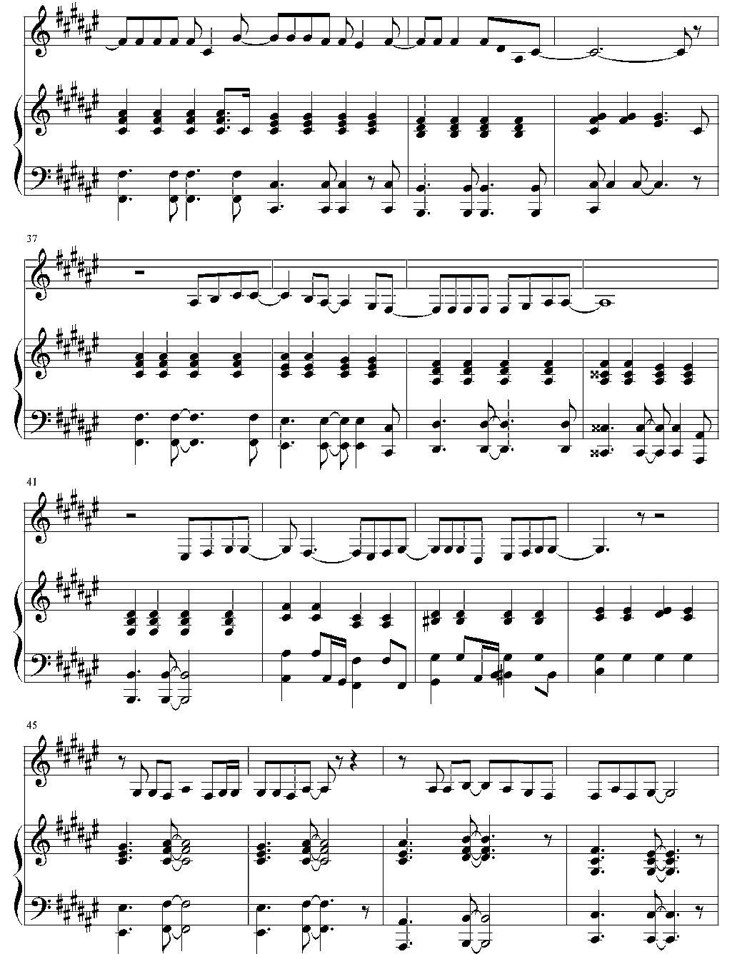 25 minutes3 piano sheet music