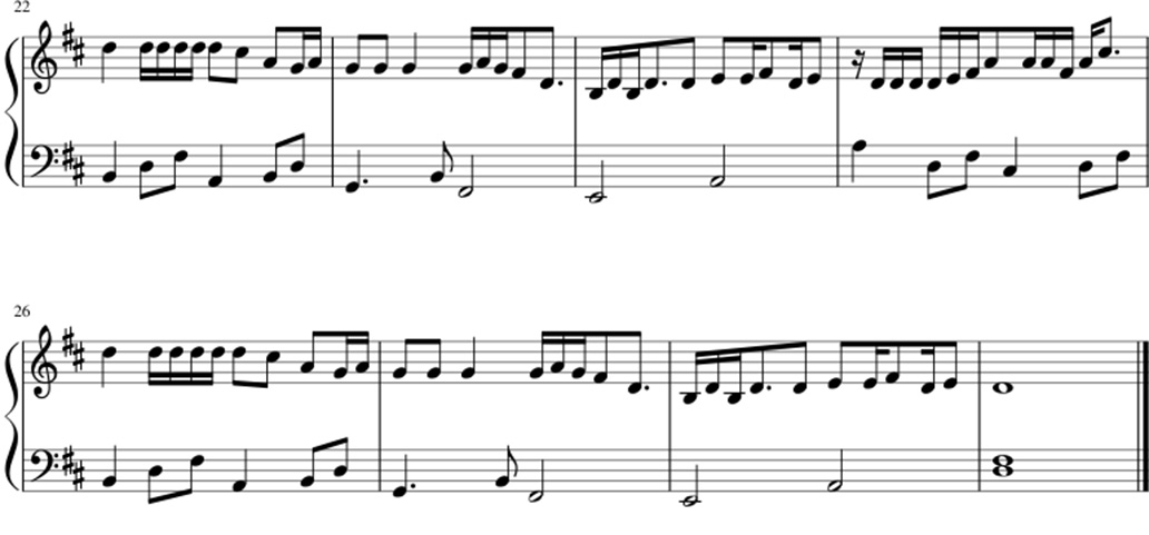 Bad things sheet music notes 2