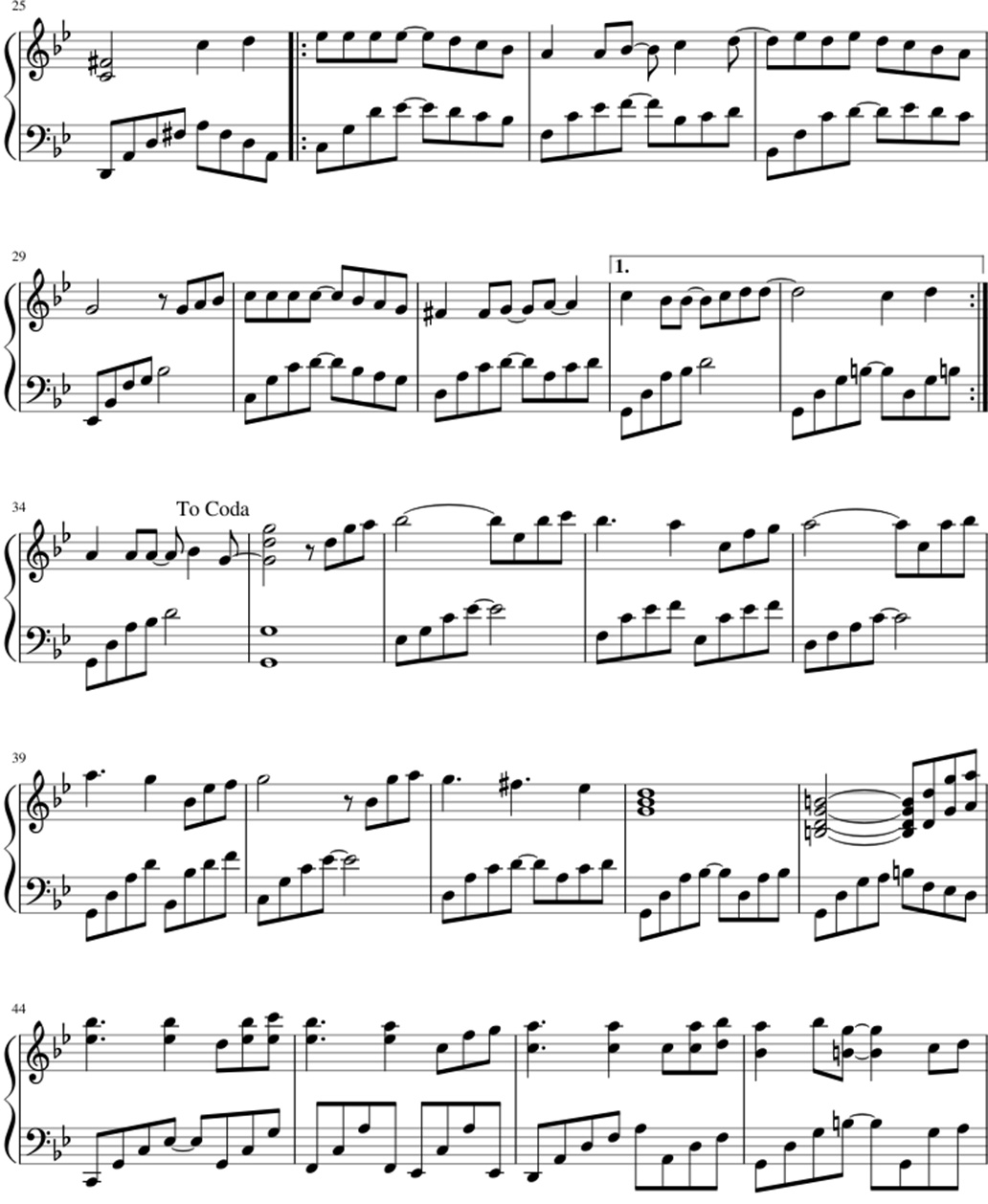 From the beginning until now sheet music notes 2