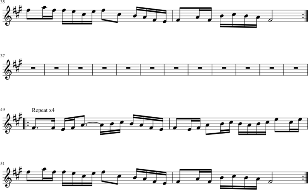 Galway Girl sheet music notes 2