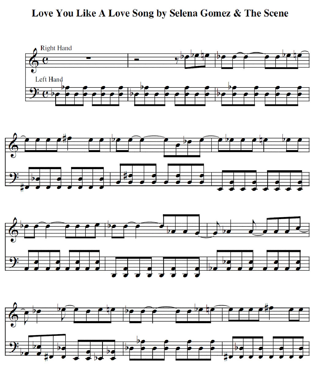 love you like love a song sheet music notes