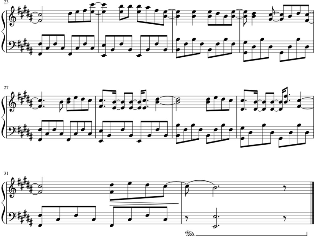Payphone sheet music notes 2