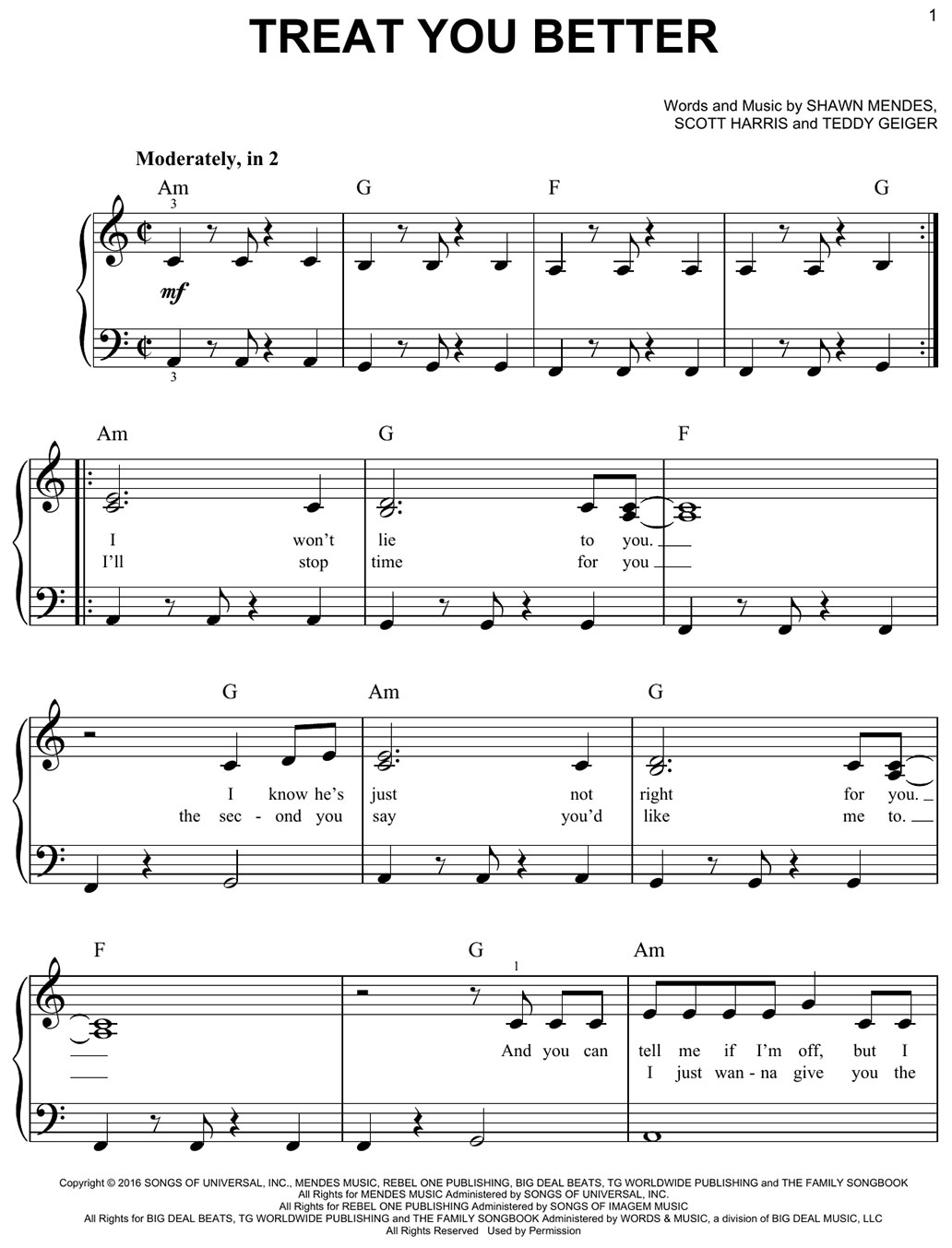 treat you better sheet music notes